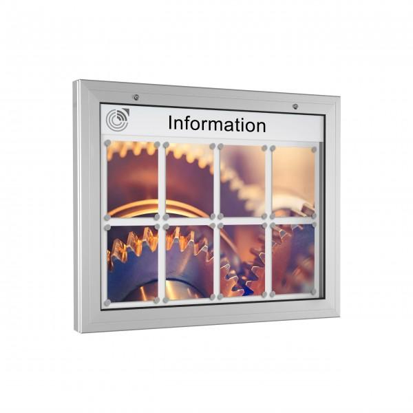 InfoSelect® KANTLINE-SCHAUKASTEN 8 x DIN A4