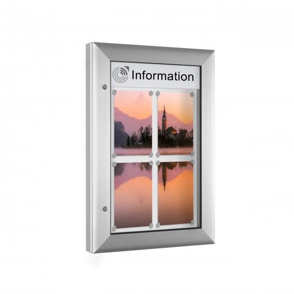 InfoSelect® SOFTLINE-SCHAUKASTEN 4 x DIN A4
